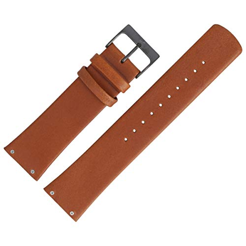 Skagen Uhrenarmband 23mm Leder Braun Glatt - SKW6106 (Skagen Band-ersatz)