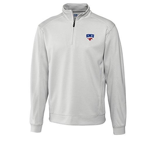 Cutter & Buck NCAA Herren Hemd Edge Half Zip, Herren, CB DrytecTM Edge Half Zip, Reflect, 3X-Large - Cutter Buck Golf-bekleidung