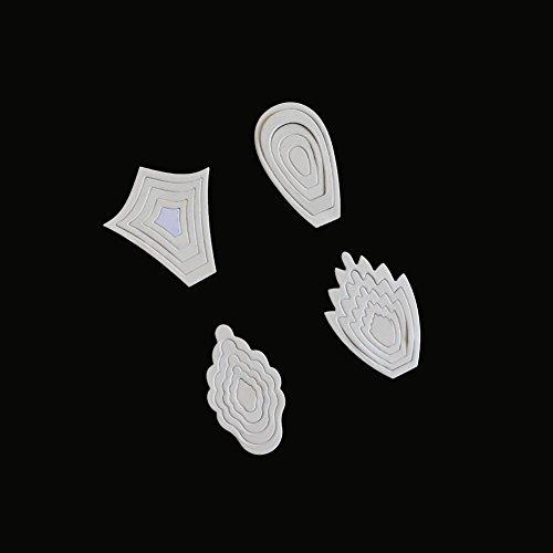Syeytx Prägestempel Neue Blume Herz Metall Stanzformen Schablonen DIY Scrapbooking Album Papier Karte