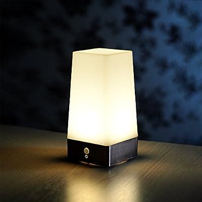 Wireless PIR Motion Sensor Table Lamp Super Bright LED Battery Powered