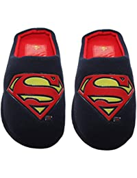 2a3d75af4c07 Mens Comic Superman Batman Grinch Superhero Fleece Slip On Novelty  Character Christmas Slippers Mules UK…