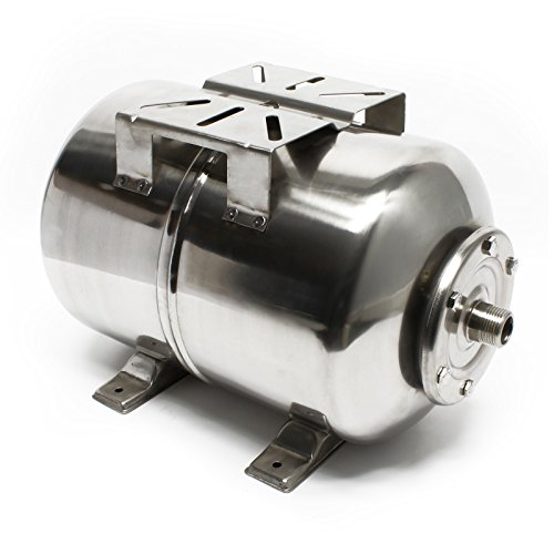 Edelstahl Ausdehnungsgefäß 24L für Hauswasserwerk und Druckerhöhungsanlage mit EPDM Membran (Kessel Ausdehnungsgefäß)