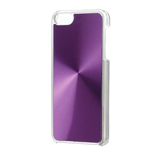 iPhone 5S Hülle Case,iPhone 5 Hülle Case,Gift_Source [Slim Fit] Colorful Cute Patterned Luxury Hard Skin Hülle Case CD Stripe Lines Aluminum Metal Hybrid PC Hard Hülle Case Back Cover für Apple iPhone E01-04-Purple160614