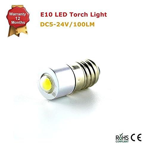 2 Pcs Conversion/upgrade E10 LED bulb Petzl Head Torch Headlamp Zoom Duo 1W 5-24v - White