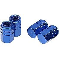 5 x you s Alu válvula tapas azul con junta válvula tapas para coche turismos camiones nuevo