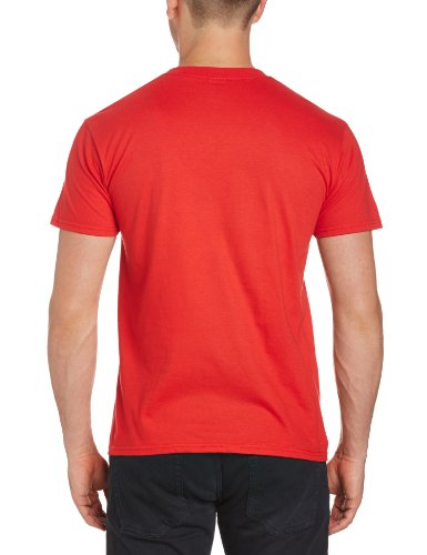 Football Fan - Maglietta, Manica corta, Uomo Rosso (Red)
