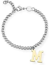 Armband mit Anhänger M - Buchstabe / Namen. Luca Barra Namenskette BK1288
