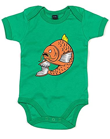 Carp Fish, Imprimé bébé grandir - Vert/Transfert 12-18 Mois