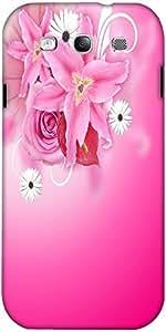 Snoogg Pink Flora Background Designer Protective Back Case Cover For Samsung ...