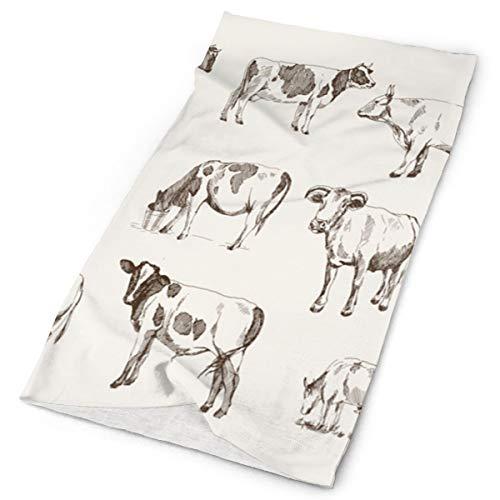Jxrodekz schizzo vintage mucca animale zootecnia raffreddamento scaldacollo ghetta freddo scialle scialle magia da sci