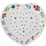 Haushaltskeramikplatte Herzförmige Besteckplatte Westlichen Restaurant Teller Steakplatte Reisschüssel Nudelplatte (Color : Weiß, Size : 27.2cm)