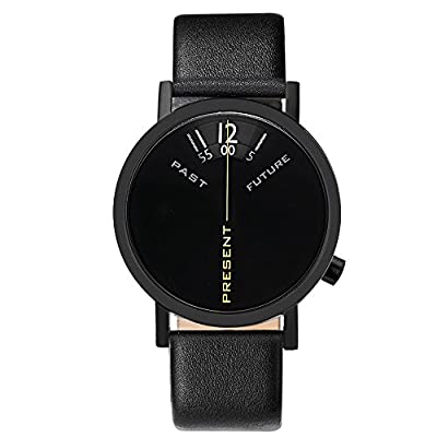 """Projects Watches """"Past, Present, Future Black"""" Acero Inox Negro Reloj Unisex de Projects Watches"""