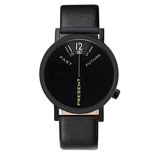 Projects Watches 'Past, Present, Future Black' Acero Inox Negro Reloj Unisex
