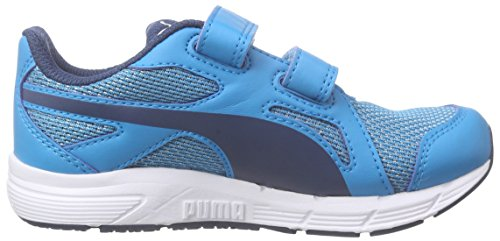 Puma Axis V4 Mesh V Kids, Baskets Basses mixte enfant Bleu - Blau (atomic blue-blue wing teal 01)