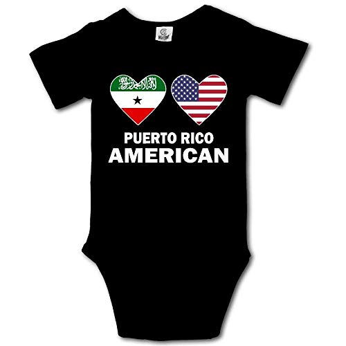 Babybekleidung Jungen Mädchen T-Shirts, Somaliland American Hearts Creeper Jumpsuits Short Sleeve Baby Girls Assorted Short Sleeve Bodysuit Onesie - American Heart Baby T-shirt