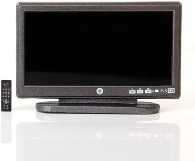 SODIAL(R) TV LCD de panel plano de pantalla ancha de casa de munecas en miniatura con remoto Gris