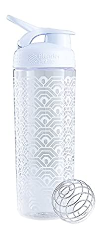 BlenderBottle Unisex Signature Sleek Shaker Cup, White Clamshell, 820ml