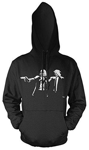 Skeletor Hoodie Kostüm - Uglyshirt89 Pulp Fiction He-Man & Skeletor Männer und Herren Kapuzenpullover | Skeletor He-Man Masters of The Universe Motu (L, Schwarz)