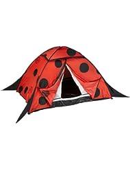 10T Outdoor Equipment Zelt Ladybug - Tiendas de campaña de túnel, color rojo, talla 2 personas