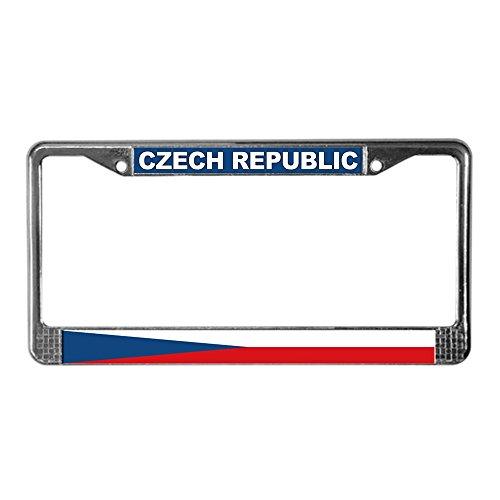 CafePress Tschechische Republik Welt Flagge Nummernschild Rahmen Lizenz Rahmen-Standard -