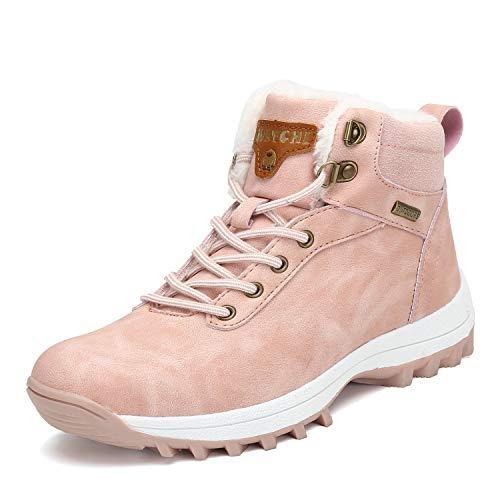 Pastaza Scarpe da Trekking Uomo Donna Stivali da Escursionismo Invernali Impermeabile Outdoor Sneakers,Rosa,39EU