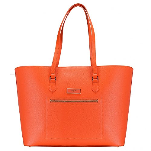 PATRIZIA PEPE Tote bag / Borsa shopping Pelle di vitello Donna New Orange