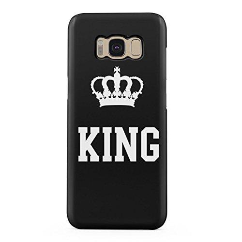 King Crown Matching Couple King and Queen Gift for Boyfreind and Girlfriend Schutzhülle aus Hartplastik Handy Hülle für Samsung Galaxy S8 Case Hard Cover