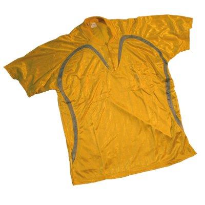 Schiedsrichter-Trikot + Hose + Stutzen Kurzarm, gelb/silber, Größe L