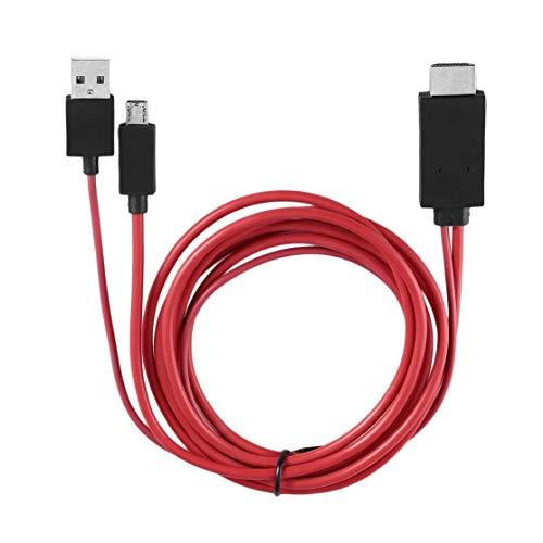 Preisvergleich Produktbild LouiseEvel215 Profesional MHL 1080p HD Micro USB a Cable HDMI Con 11 Pines para Samsung Galaxy Note 4 S4 I9500 S3 I9300