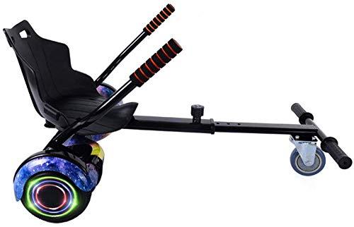 WJSW Hoverboard Mit Sitz, 8-Gang-Verstellbares Elektro-Scooter-Kart-ZubehöR FüR Alle Selbstausgleichenden Hoverboard-Scooter (6,5-10 Zoll) / Kinder Und Erwachsene