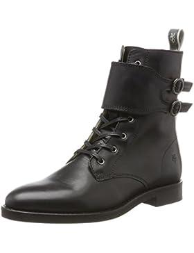 Marc O'Polo Damen Lace Flatheel Bootie 70814226301124 Combat Boots