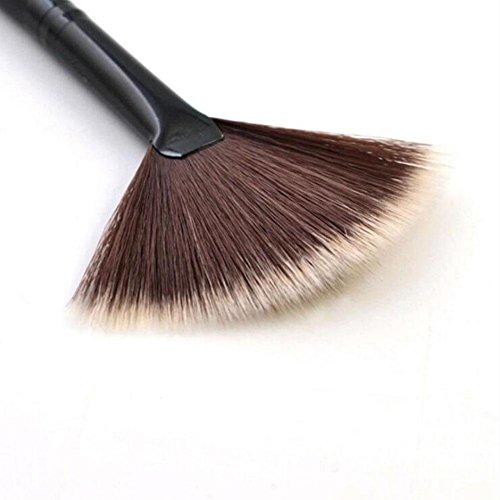 UKZHIDA 1pc Sektorpuderverfassungspinselpuderschönheitsformgesichtskosmetische Werkzeuge Schönheit Sektor-Schönheits-Werkzeug-Make-upbürste (braun)