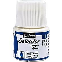 Pebeo Setacolor - Pintura para tejidos (45mm), color blanco