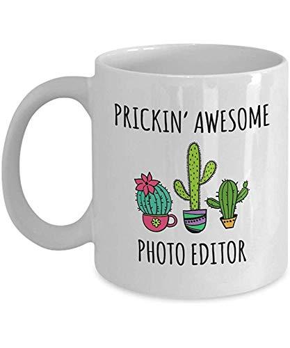 Bildbearbeitungs-Geschenk Prickin \'Fantastische Bildbearbeitungs-Kaktus-Dekor-Kaffeetasse-Teetasse-lustige inspirierend Geschenke