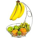 Chrome tazón de frutas con plátano Hanger