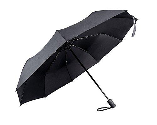Shinmax , Unisex-Erwachsene Taschenschirm, schwarz - schwarz - Größe: 8-costole