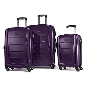 Samsonite Winfield 2 Fashion 3 Piece Spinner Luggage Set in Purple