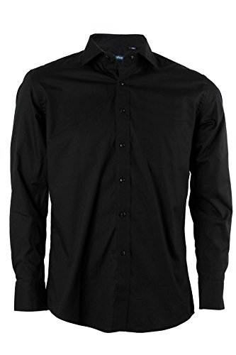 Mr. hope camicia classica nera, xl-43/44