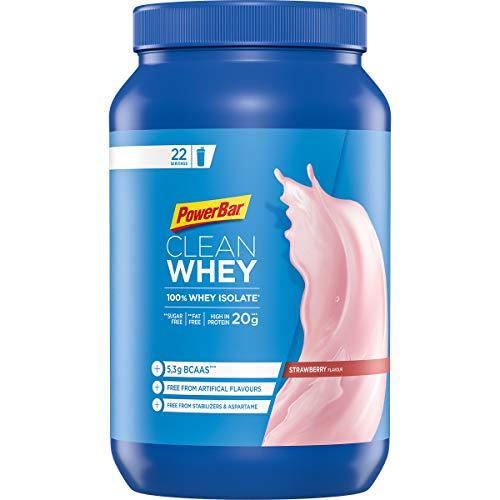 PowerBar Whey Protein 100% Isolate - Aminosäuren (BCAA) natürlich enthalten - Protein Shake - Strawberry Cheesecake (1 x 570g)