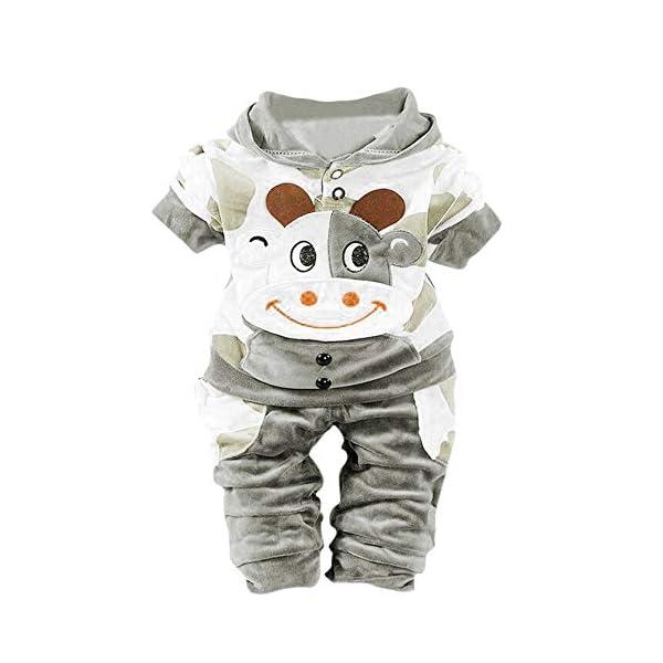 BBSMILN Ropa Bebe Niña Niño Otoño Invierno 6-24 Meses de Recién Nacido - Cálidos Abrigo con Capucha de Terciopelo… 1