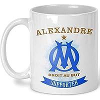 Mug foot OM personnalisé prénom - Tasse olympique de Marseille - Fan de l'OM - Supporter - Supportrice