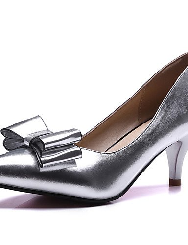 WSS 2016 Chaussures Femme-Bureau & Travail / Habillé / Soirée & Evénement-Bleu / Rose / Argent / Or-Kitten Heel-Talons / Escarpin Basique / Bout golden-us7.5 / eu38 / uk5.5 / cn38