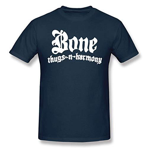 Bone Thugs N Harmony Menâ€s Popular Short Sleeve T-Shirts Black,Navy,Medium (Bone Thugs N Harmony-shirt)
