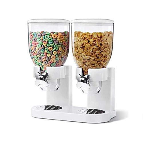 ~ Cereal Doble Seca Disposiciones Triturador Cocina para Guardar Objetos Contenedor Dispensador