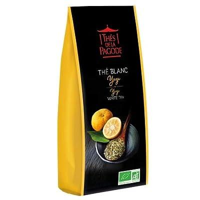 Thé blanc yuzu bio par Thés de La pagode?Thé blanc Bai mu dan au yuzu et à l'orange - Sachet vrac 100 grammes?Thé en vrac Bio