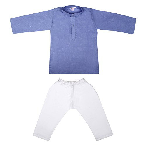 Littly Baby Boy's Ethnic Wear Cotton Khadi Kurta Pyjama
