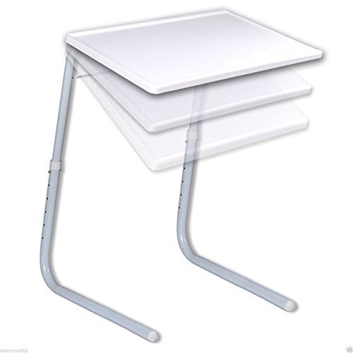 Tv Tray Table (Portable Adjustable Folding Table Mate Tv Dinner Laptop Travelling Bed Tray Desk by zizzi)