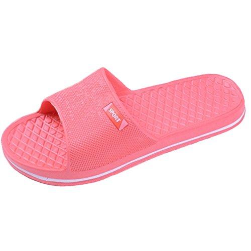 wyhweilong Pantoufles de Bain Unisexe Chausson de Salle de Bain Chaussures de Plage Tongs DIntérieur Sandales DÉté Anti Slip Pastèque rouge