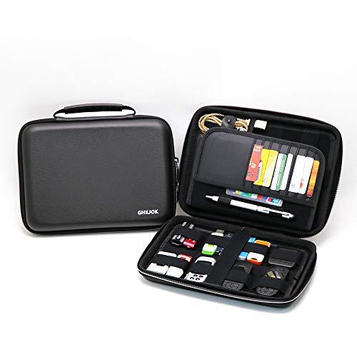 FunYoung USB Organizer Tasche Festplatte Schutzhülle für USB-Sticks, SD-Karten, Speicherkarten, Power Bank, Kabel, Kopfhörer -