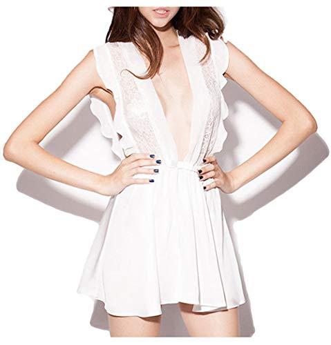Plus Size Schiere Robe (ShinGown Bademäntel Damen Kurz Spitze Durchsichtige Schlafmantel Leicht Plus Size Frau Pyjama Party Sommer)